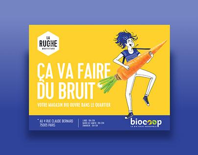 Biocoop brand design pub DA