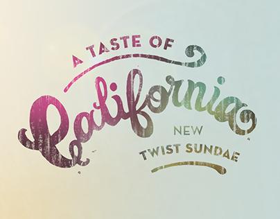 Baskin Robbins - A Taste of California Campaign