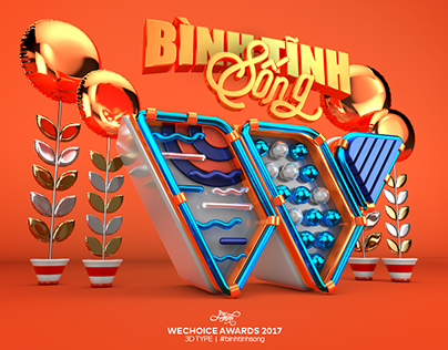 WeChoice Awards 2017 | 3D Type - Typography