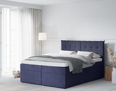 Echaveria Bed, 3D Model + Interior