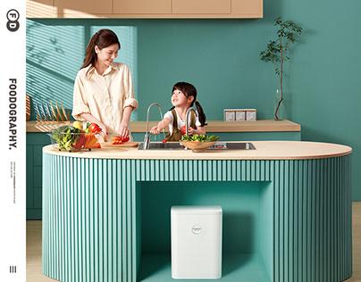 小家电摄影 | 佳尼特净水器Water purifier ✖ foodography
