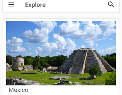 The Mayan Route - Material Design