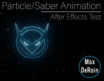 Particle/Saber Animation | After Effects Test