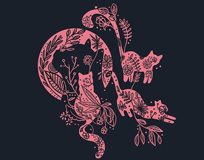Cat lover - Illustration