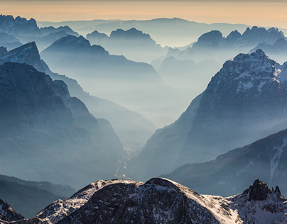 The Dolomites. Winter