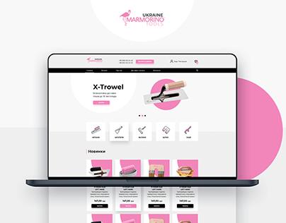 """Дизайн сайта для """"Marmorino tools Ukraine"""""""