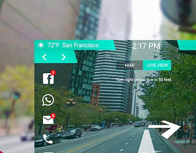 Car AR Dashboard UI