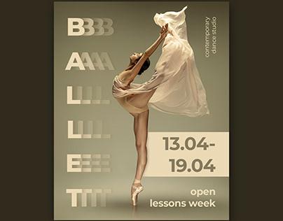 Poster for dance studio