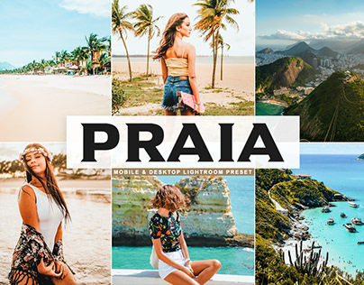 Free Praia Mobile & Desktop Lightroom Preset