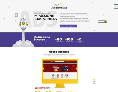 Website Via Varejo Ads