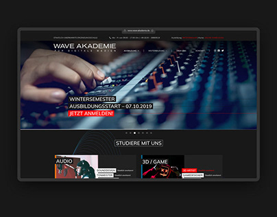 Wave Akademie – UI/UX - Redesign