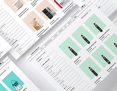 Diseño web e-commerce Nirvel Cosmetics