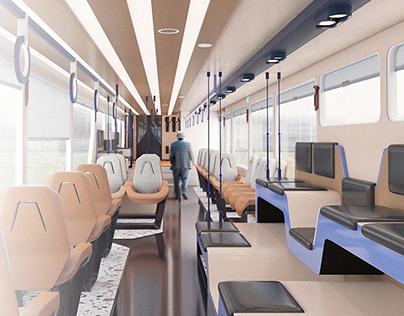 PESA x IC train interior