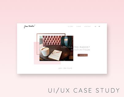 UI/UX case study - Website for Interpreter