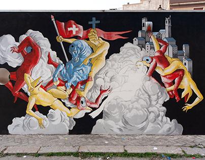 IL MIRACOLO DI SAN SEVERINO - Wall in San Severo, Italy