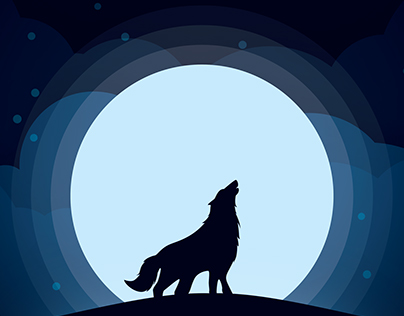 Wolf illustration - GRAPH-IT