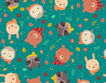 Hello forest friends (pattern)