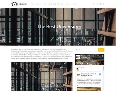 Blog Post - Education WordPress Theme