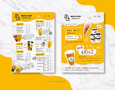 Tea shop menu design