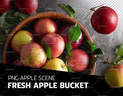 PSD scene - Fresh apples