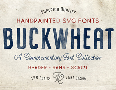 BUCKWHEAT - FREE HANDPAINTED SVG FONT