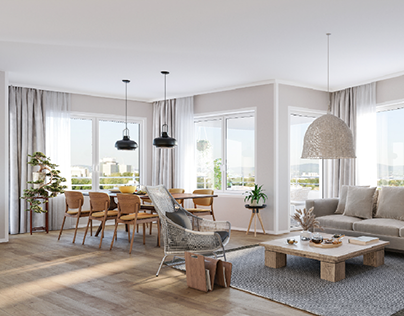 Scandinavian styled interior in Vienna.
