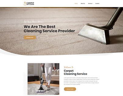 Carpet Cleaner Website Design