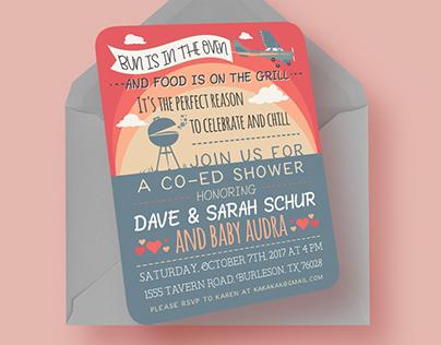 Custom Aviation Co-ed Baby Shower Invitation