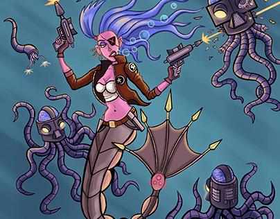 Cyberpunk Mermaid