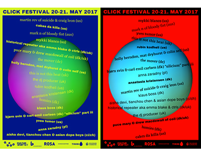 CLICK Festival generative posters