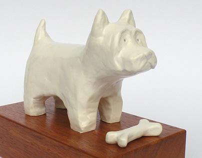 "Rzeźba, ""Pies Fuma"""