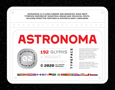 Astronoma Typeface
