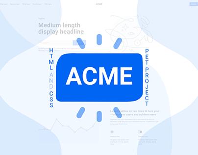 ACME Pet Project