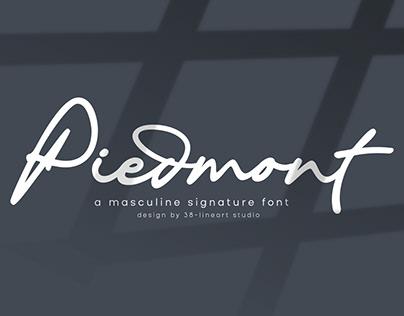 Piedmont Signature Font