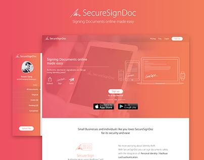 SecureSignDoc | Web App UI/UX