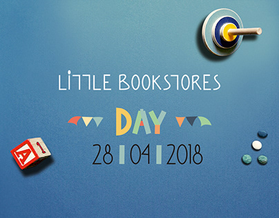 Flyer layout for Little Bookstores Day 2018, Greece