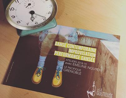 [Flyer] Ateliers danse contemporaine - Cie La Guetteuse