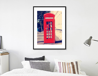 Red Booth Photography Print