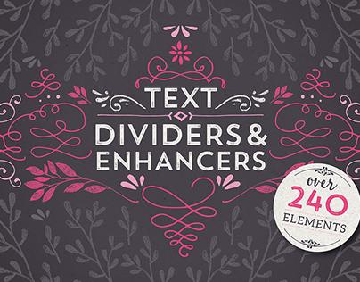 Text Dividers & Enhancers