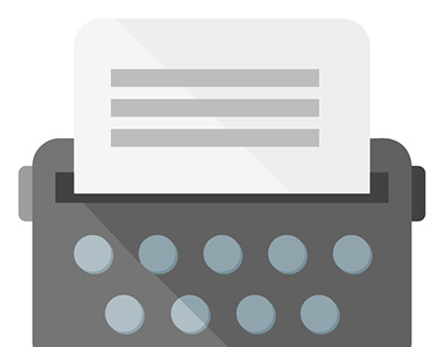 Typewriter Icon in Material Design