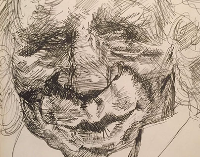 Caricature Of An Old Man