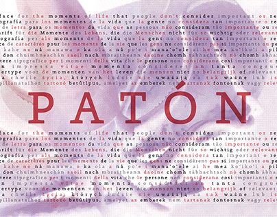 Patón Typeface