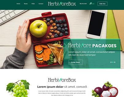 Herbivore Box Website Packaged Meal Kits