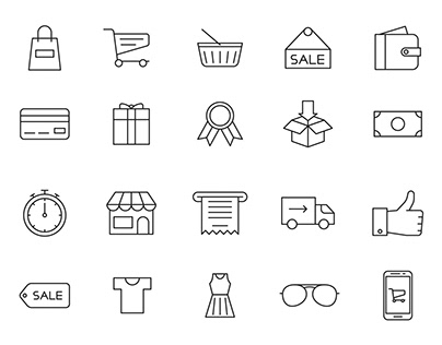 20 Shopping Vector Icons