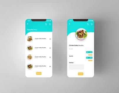 Minimalistic UI of FoodAppp