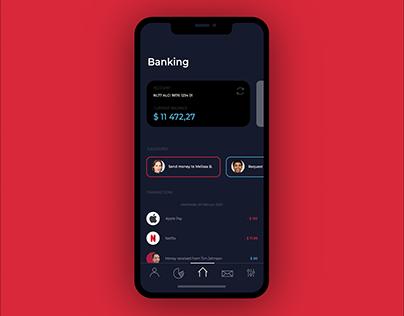 Banking app UI concept (2019)
