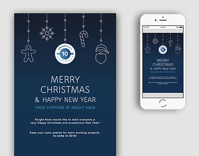 Email Design and coding for Knight Knox Christmas 2017