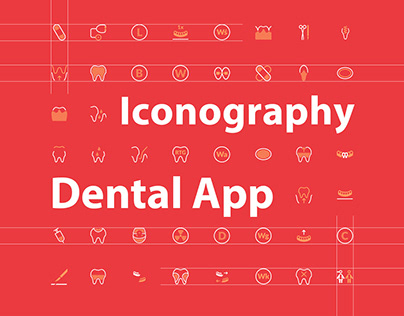 44 icons for the dental app