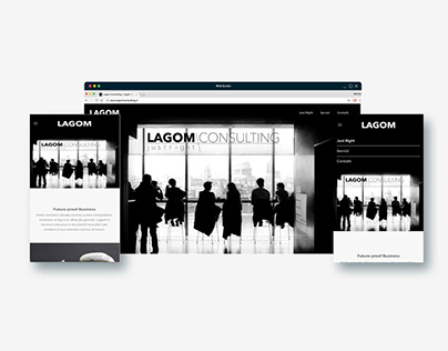 One page website theme configuration - Consultant
