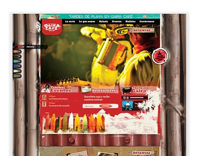 Gaira Café Cumbia House - Web Design